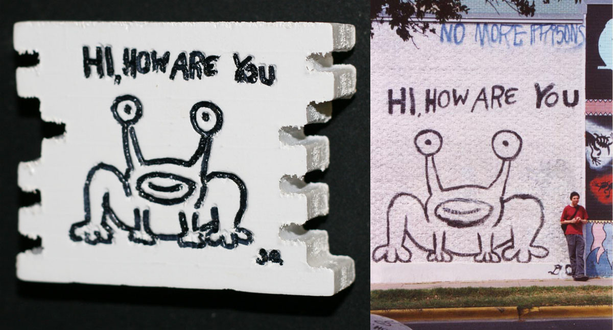 Product details daniel johnston web store for Daniel johnston mural austin